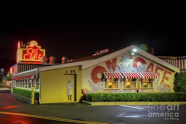 Photograph - Atlanta Ok Cafe Nightshift Atlanta Restaurant Art by Reid Callaway