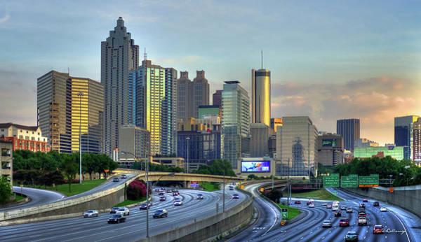 Georgia Power Company Photograph - Atlanta Post Card Sunset Reflections Art by Reid Callaway