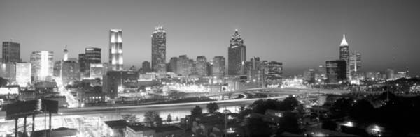 Fulton County Photograph - Atlanta Skyline At Dusk After Olympics by Panoramic Images