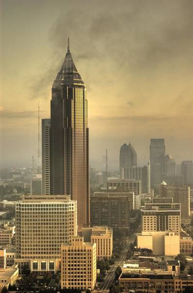 Hotlanta Photograph - Atlanta Skyline At Dusk by Robert Ponzoni