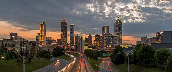 Hotlanta Photograph - Atlanta Skyline At Twilight by Willie Harper