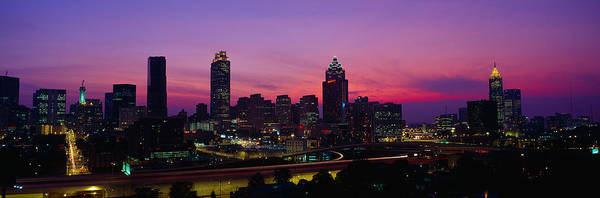 Fulton County Photograph - Atlanta Skyline, I-20, Georgia by Panoramic Images