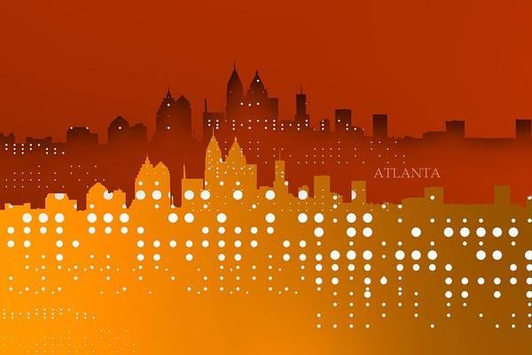 Digital Art - Atlanta Skyline Shadows Over Gold by Alberto RuiZ