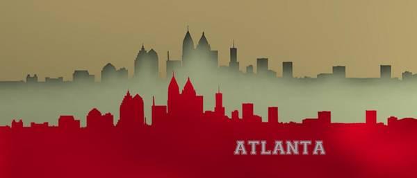 Digital Art - Atlanta Skyline.7 by Alberto RuiZ