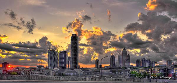 Georgia Power Company Photograph - Atlanta Sunrise On Atlantic Station Commons And Midtown Atlanta by Reid Callaway