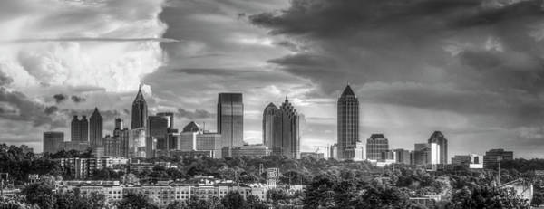 Georgia Power Company Photograph - Atlanta Sunset Panorama 2 Cityscape Art by Reid Callaway