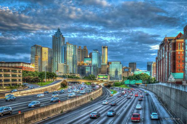 Photograph - Atlanta Sunset Reflections Cityscape Art by Reid Callaway