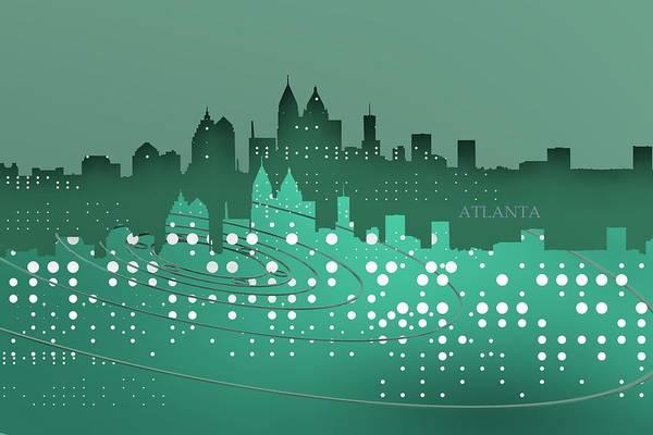 Digital Art - Atlanta Tech Skyline Over Emerald by Alberto RuiZ