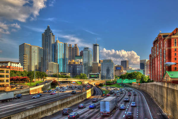 Fulton County Photograph - Atlanta The Capital Of The South Cityscape Sunset Reflections Art by Reid Callaway