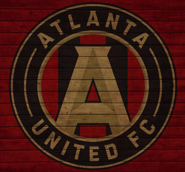 Mixed Media - Atlanta United Barn Door by Dan Sproul