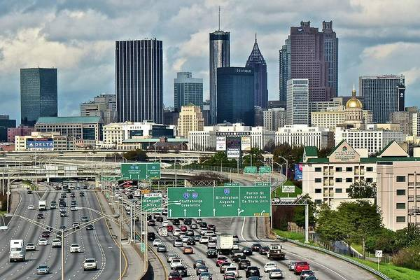 I-75 Photograph - Atlanta Up Ahead 2017 by Frozen in Time Fine Art Photography