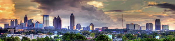 Georgia Power Company Photograph - Atlanta Wet Sunset Cityscape Art by Reid Callaway