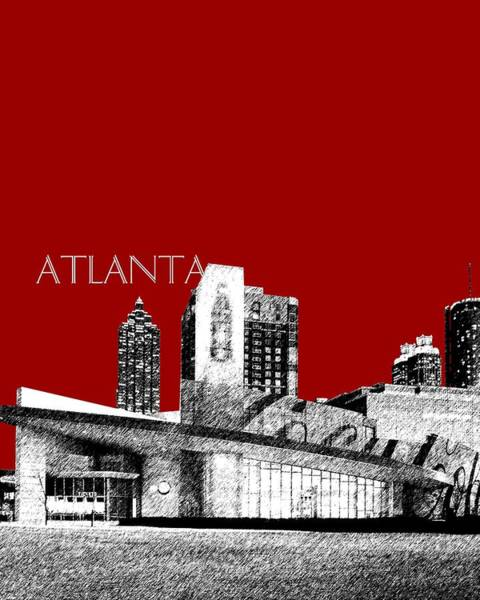 Museum Digital Art - Atlanta World Of Coke Museum - Dark Red by DB Artist
