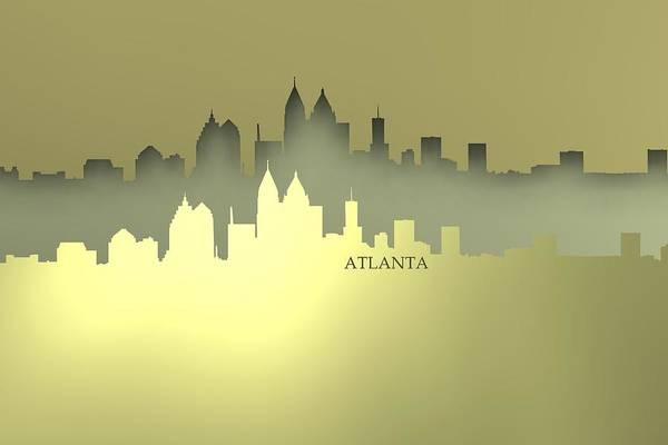 Digital Art - Atlante Cool Skyline by Alberto RuiZ