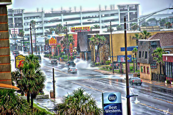 Photograph - Atlantic Avenue Street Flooding In Daytona Beach by Gina O'Brien