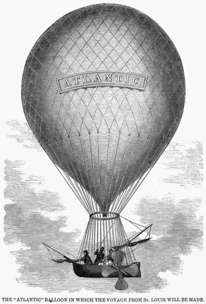 Photograph - Atlantic Balloon, 1859 by Granger