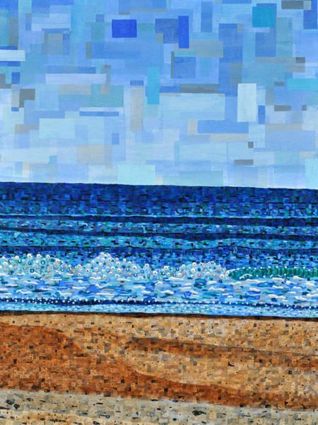 Atlantic Painting - Atlantic Beach In July by Micah Mullen
