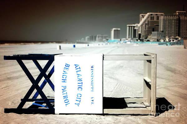 Photograph - Atlantic City Beach Patrol Infrared by John Rizzuto