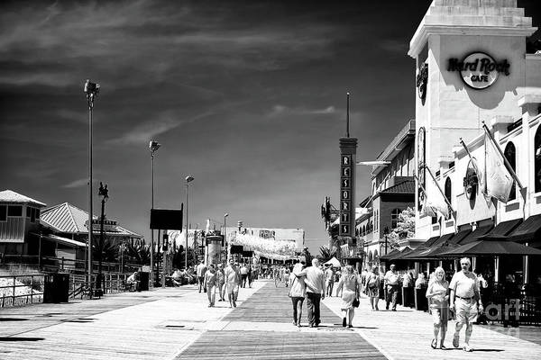 Photograph - Atlantic City Boardwalk Days by John Rizzuto