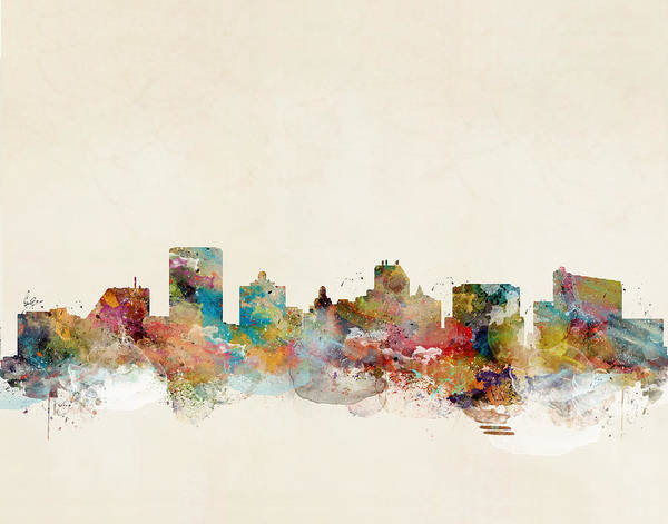 City Map Painting - Atlantic City by Bri Buckley