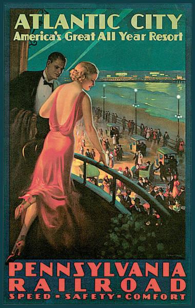 Painting - Atlantic City Pennsylvania Railroad by Edward Egglesston