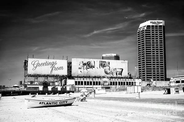 Photograph - Atlantic City Postcard View by John Rizzuto