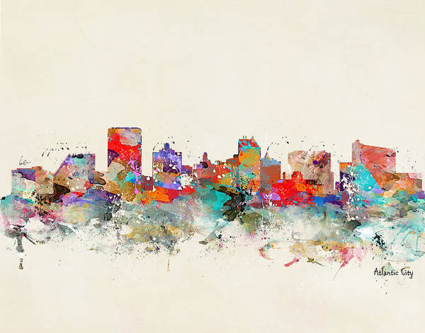 New Home Painting - Atlantic City Skyline by Bri Buckley