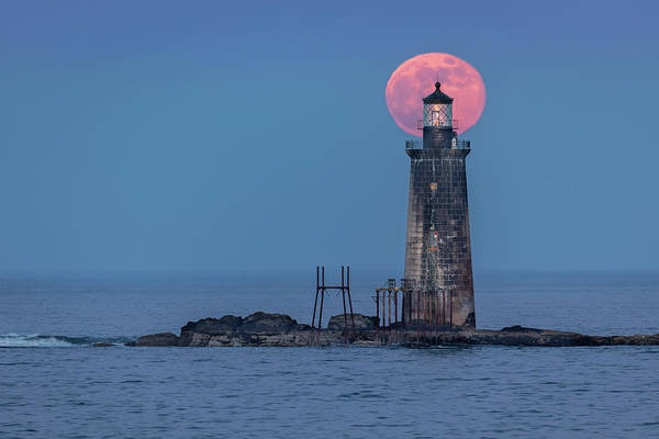 Photograph - Atlantic Full Moon by Colin Chase
