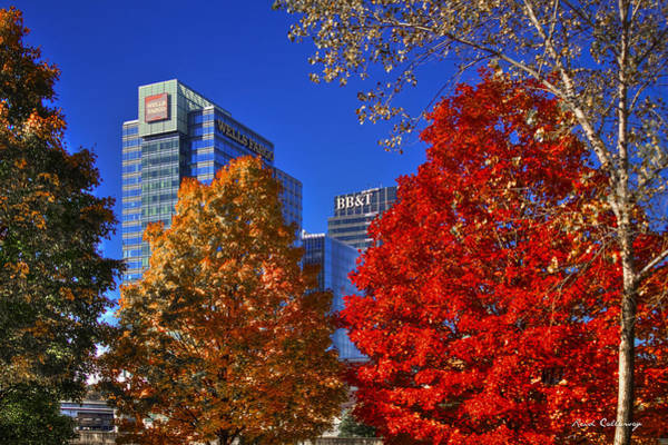 Atlanta Symphony Orchestra Photograph - Atlantic Station Banking Fall Leaves by Reid Callaway