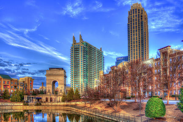Village Gate Photograph - Millennium Gate Atlantic Station Cityscape Art by Reid Callaway