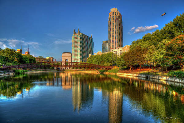 Photograph - Atlantic Stations Reflections Atlanta Midtown Cityscape Art by Reid Callaway