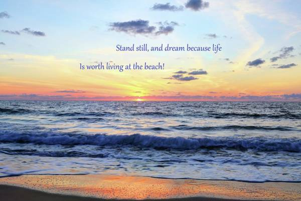 Photograph - Atlantic Sunrise And Quote by Carol Montoya