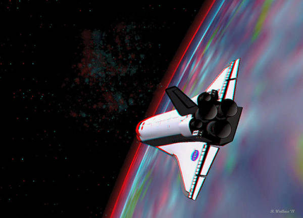 Anaglyph Photograph - Atlantis 1 - Use Red-cyan 3d Glasses by Brian Wallace