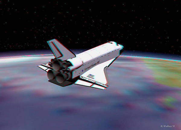 Anaglyph Photograph - Atlantis 2 - Use Red-cyan 3d Glasses by Brian Wallace