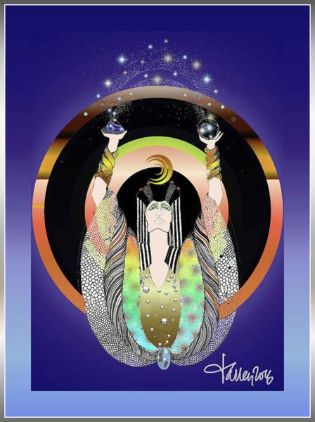 Atlantis - Copper Ring Energy Alchemy Art Print