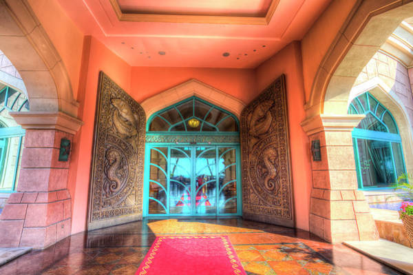 Wall Art - Photograph - Atlantis Palm Hotel Entrance by David Pyatt