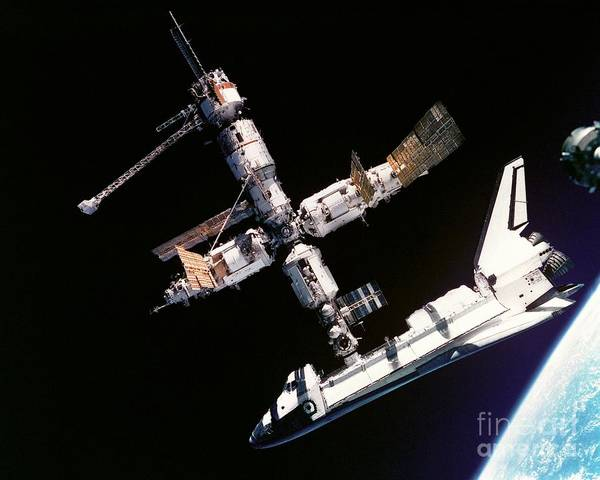 Painting - Atlantis Space Shuttle by Celestial Images