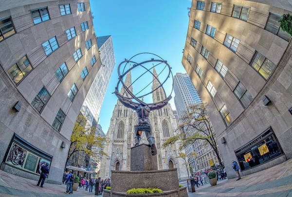 Wall Art - Photograph - Atlas And St. Patrick's  by June Marie Sobrito