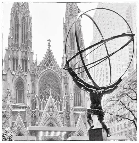 Juxtaposition Photograph - Atlas And The Cathedral by Vicki Jauron