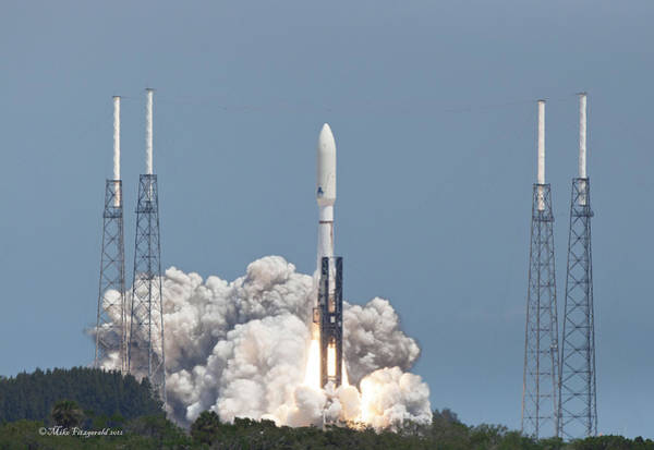 Photograph - Atlas V Launch by Mike Fitzgerald