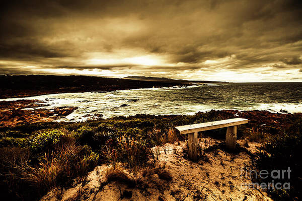 Seat Photograph - Atmospheric Beach Artwork by Jorgo Photography - Wall Art Gallery