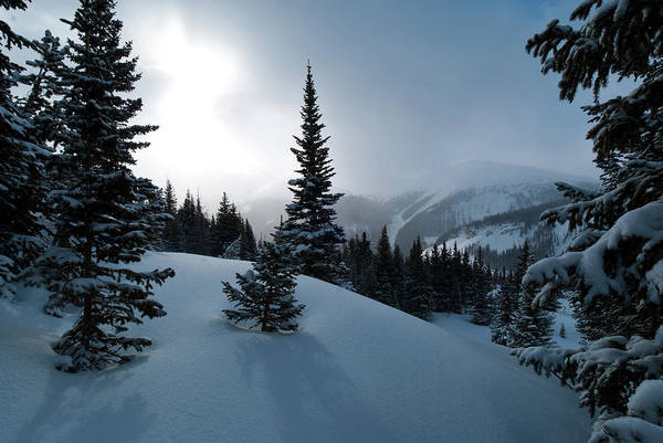 Photograph - Atmospheric Winter Mountain Morning  by Cascade Colors