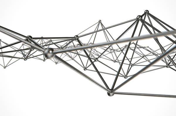Algorithm Digital Art - Atom Array Abstract by Allan Swart