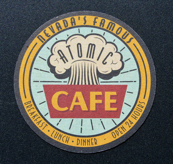 Wall Art - Photograph - Atomic Cafe Coaster by David Lee Thompson