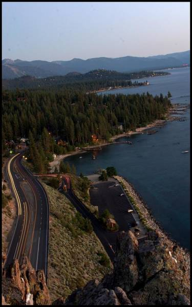 South Lake Tahoe Photograph - atop Cave Rock by Brad Scott