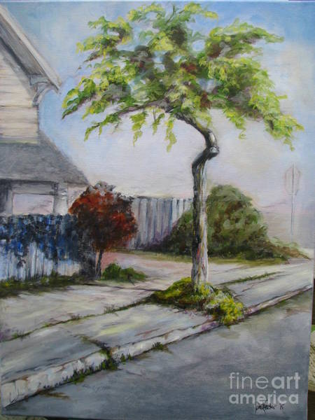 Eureka Painting - Atree Grows In Eureka by Patricia Kanzler