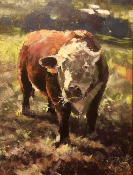 Painting - Atsa Lotta Bull by Marty Coulter