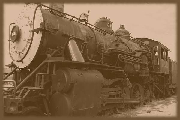 Photograph - Atsf 2-4-2 No 811 Locomotive by David Dunham