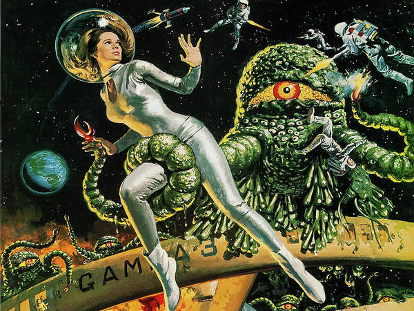 Wall Art - Painting - Attack Of A Great Slime, Vintage Sci-fi Movie From Japan by Long Shot