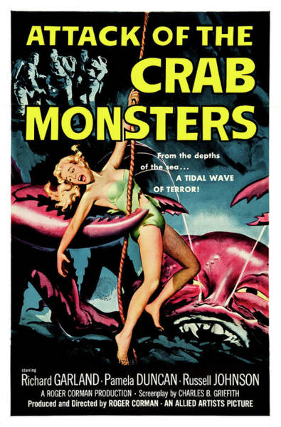 Horror Film Painting - Attack Of The Crab Monsters, Horror Movie by Long Shot